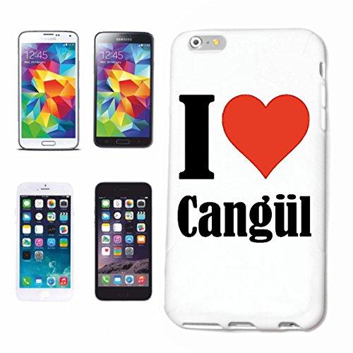 """Handyhülle iPhone 4 / 4S """"I Love Cangül"""" Hardcase Schutzhülle Handycover Smart Cover für Apple iPhone … in Weiß … Schlank und schön, das ist unser HardCase. Das Case wird mit einem Klick auf deinem Sm"""
