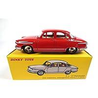 DeAgostini Panhard PL17 röd – Dinky Toys NOREV miniatyr Ref: 547