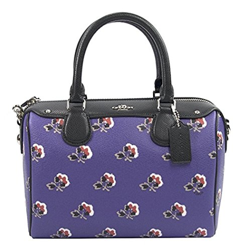 Coach 55464 Purple Bramble Rose Crossgrain Leather Mini Bennett - Multicolor Coach Handbags