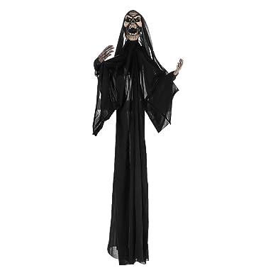 Halloween Kostüm Mit Kapuze Maske Dämon Teufel Zombie Fasching