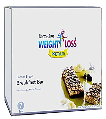 Doctors Best Weight Loss - Banana Bread Breakfast High Protein Diet Bars (7/box)