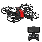 M9956 Mini Drone RC Nano Four-Sided Helicopter for Children and Beginners Best Drone Equipped with Automatic Hover, 3D flip, Headless Mode. Toys. Gifts (720P, RED)