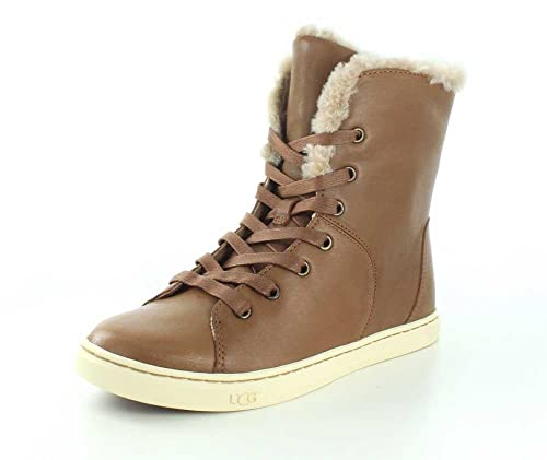 5e5964d4865 UGG Croft Luxe Quilt Women's Flat Lace Up Leather Fashion sneaker ...