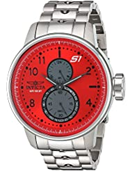Invicta Mens S1 Rally Quartz Stainless Steel Casual Watch, Color:Silver-Toned (Model: 23061)