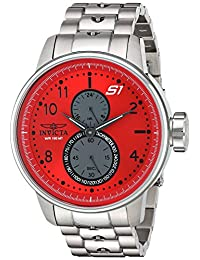 Invicta Men's 'S1 Rally' Quartz Stainless Steel Casual Watch, Color: Silver-Toned (Model: 23061)