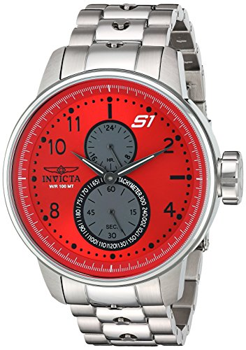 Invicta Men's 'S1 Rally' Quartz Stainless Steel Casual Watch, Color:Silver-Toned (Model: 23061)