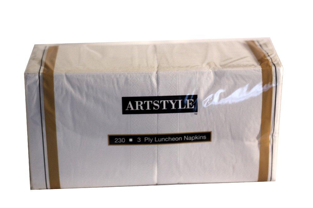 Artstyle 3プライホワイトLuncheon Napkins 13インチ× 13。(33 cm. X 33 cm。)230 CT。 B00GDG0NF2