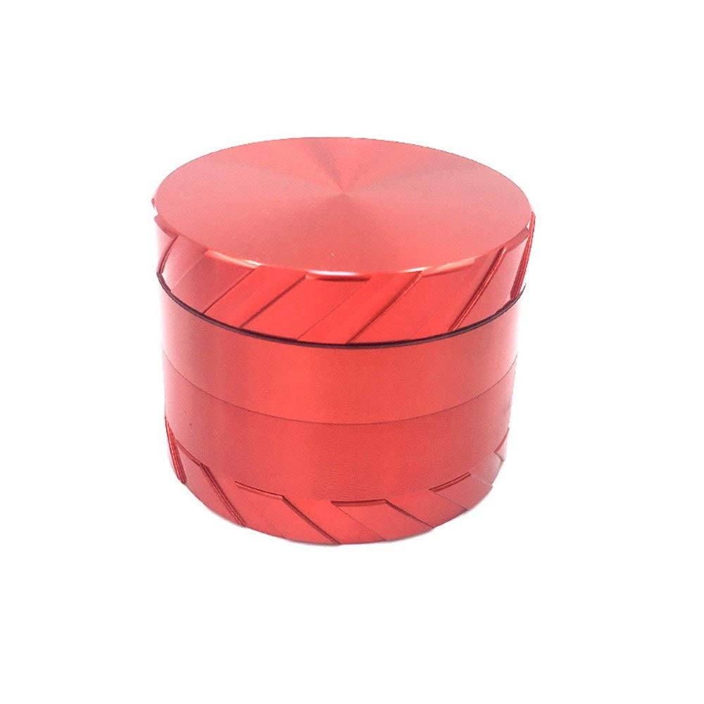 Yzyamz Herb Grinder, Aluminum Alloy Four-layer Smoker Creative Tire Portable, Manual Grinder, Bench Grinder, 2.5'' (63Mm) (Color : Red) by Yzyamz