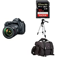 Canon EOS 6D Mark II Digital SLR Camera with EF 24-105mm USM Lens + Free Accessory Bundle