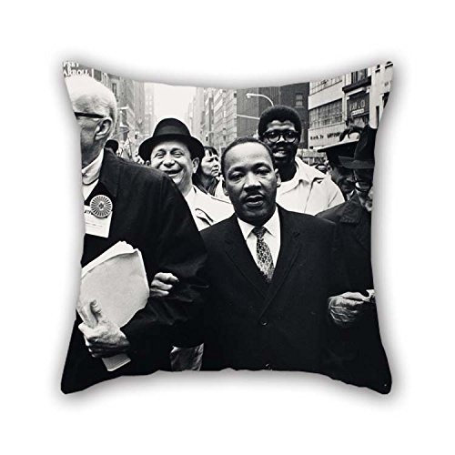 (Oil Painting Benedict J. Fernandez - Dr. Benjamin Spock, Dr. King, And Monsignor Rice Of Pittsburgh March In The Solidarity Day Parade At Pillowcase 18 X 18 Inches / 45)