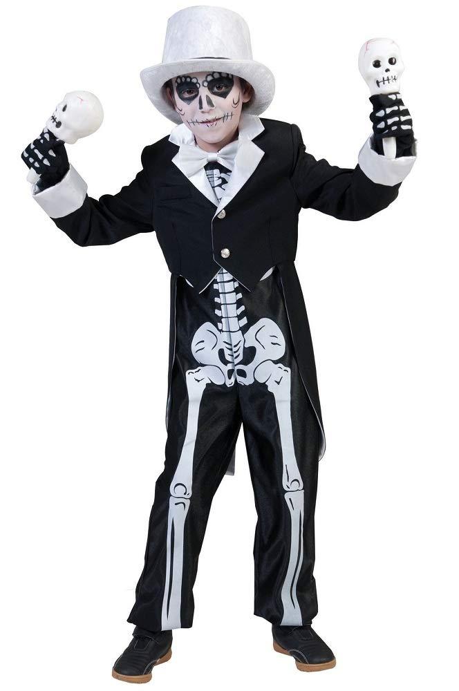Disfraz esqueleto chic niño Halloween - De 8 a 10 años ...