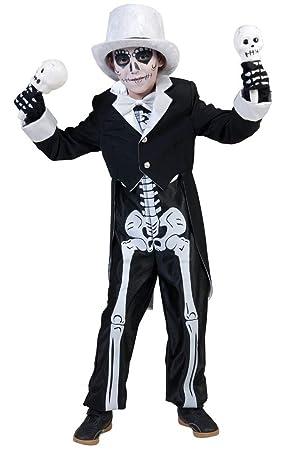 Disfraz esqueleto chic niño Halloween - De 8 a 10 años: Amazon.es ...
