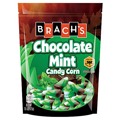 Brach's Chocolate Mint Candy Corn - 15 ounce Bag (Pack of 3) by All City Candy