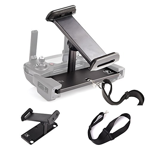 KUUQA Aluminum-Alloy Foldable Tablet Stand Holder Extender with Lanyard for Mavic Pro/Mavic Air/Dji Spark Remote Controller Device (DJI Mavic Not - Alloy Air