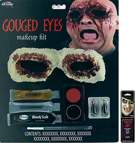 Potomac Banks Eye Cover Appliance Makeup Kit (Gouged Eyes) with Free Pack of Makeup