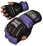 Ring to Cage Womens MMA Kickboxing Fitness Bag Gloves (Black/Purple (Small Size))