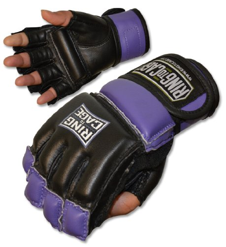 Ring to Cage Womens MMA Kickboxing Fitness Bag Gloves - Purple (Lavender) or Pink Color - Small or Medium Size (Purple, Medium)