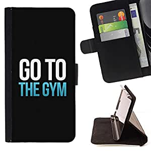 For Samsung Galaxy S4 IV I9500 Exercise Motivation Minimalist Text Beautiful Print Wallet Leather Case Cover With Credit Card Slots And Stand Function