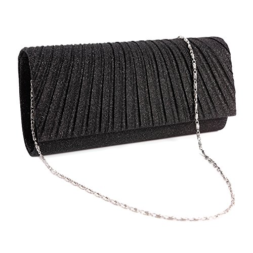 Honeycomb Designed Sparkle Glitter Evening Clutch Bag Bridal Wedding Handbag (Black): Handbags: Amazon.com