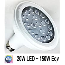 PAR38 LED Non-Dimmable A19 Base LED Flood Light Bulb, Daylight White (5000K) Light Bulbs, 20W (150W Equivalent) for Home, 1800LM, 120V, 40 Degree Beam Angle LED Bulb
