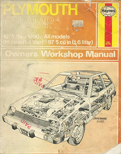 Plymouth Champ Owner's Workshop Manual