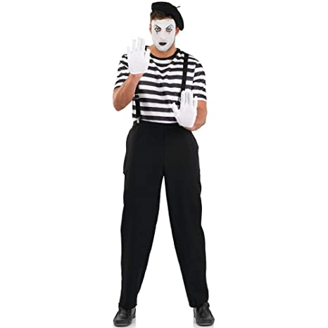 Maschio Mime Artista - Costume da Costume Adulto - XL - 56-58 ... a743c1eaeb0e