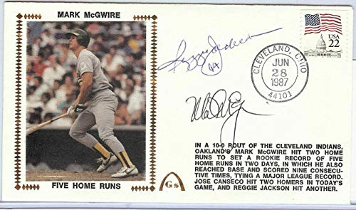 Reggie Jackson Mark McGwire Dual Signed Autographed First Day Cover U82442 - JSA Certified - MLB Cut Signatures