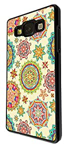 1393 - fresco kwaii espacio hipnotizarme lindo divertido kaliedoscope de moda colorido remolinear (3) paz Arte para Samsung Galaxy J2 cellbell plástico caso y papel fino - negro