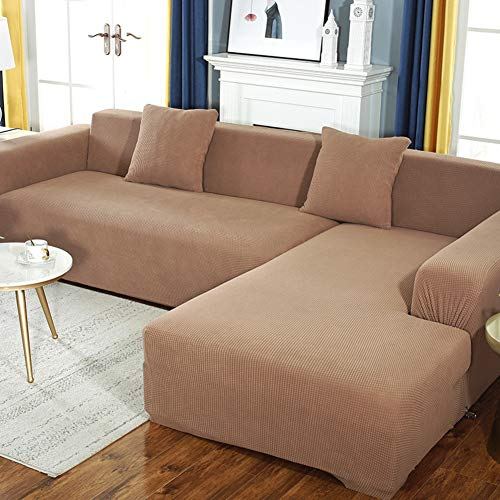 XUELIAIKEE L Shape Stretch Sofa Covers,sectional Sofa Couch Cover Elastic Jacquard Sofa Slipcover Thick Anti-Slip Couch Protector for L Shape Couch-j L-Shape 3+3 Seats