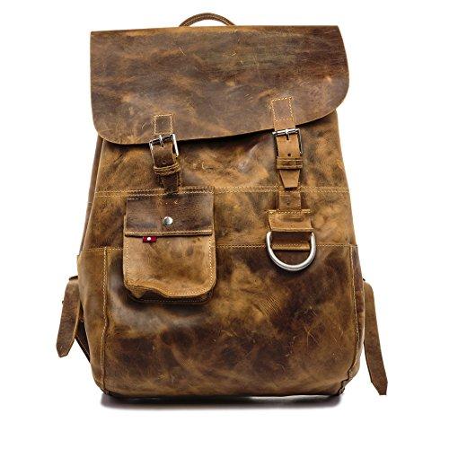 Oliberte Krabu Rustic Brown Pullup Backpack by Oliberte