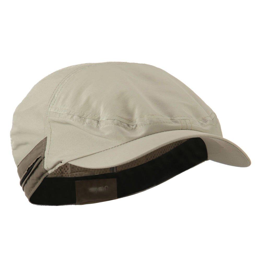 Khaki Talson Zippered Back Flap Ivy Cap MG UV 50