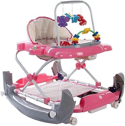 Mychild Walk/'n/'Rock 2-in-1 Baby Walker Pink