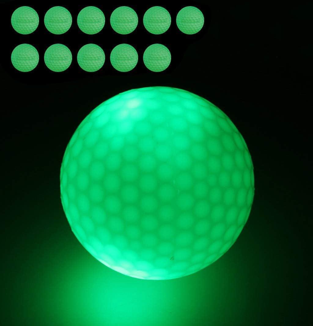 FHD Pelotas de Golf Nocturnas, Pelota de Golf Fluorescente Luminosa para Torneos con Mejor Golpe, SIN LED en el Interior Golpea la Pelota más de 1000 Veces