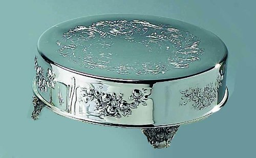 Elegance Silver 89902 Silver Plated Round Cake Stand, 18''