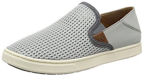 OluKai Womens Pehuea Slip on Pale Grey/Charcoal cheap sale largest supplier v0TXSN