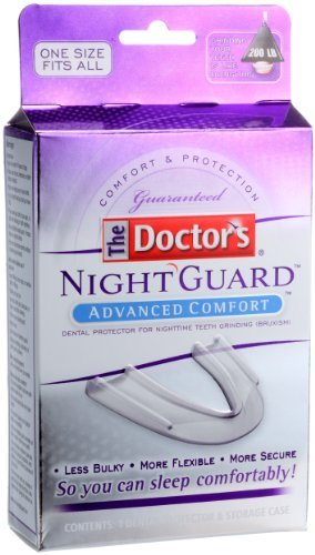 - It contains soft upper layer to cushion and absorb, firm lower layer prevents grinding and bite through. - Med Tech Products Med Tech Products Doctors Nightguard Advanced Comfort