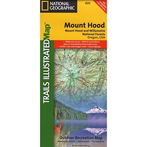 Trails Illustrated Mount Hood and Willamette National Forest Trail Map