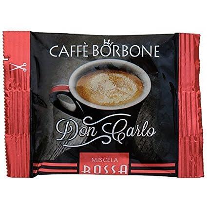 Cápsulas de café Borbone Don Carlo, rojas, compatibles con cafetera Lavazza A modo mio, 50 unidades