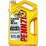 Pennzoil Platinum High Mileage Motor Oil 5W-30, 5 Quart - Pack of 1