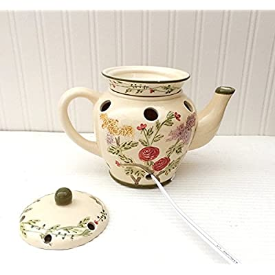 Click for Tuscan Flowered Garden Hand Painted Ceramic Electric Tart Burner, 89761 by ACK