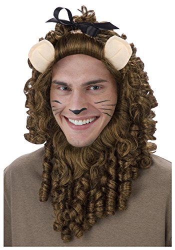 Cowardly Lion Wig (Fun Costumes Deluxe Cowardly Lion Wig Standard)