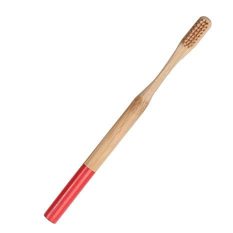 Cepillo de dientes de bambú natural, carbón vegetal, bambú, cepillo de dientes de