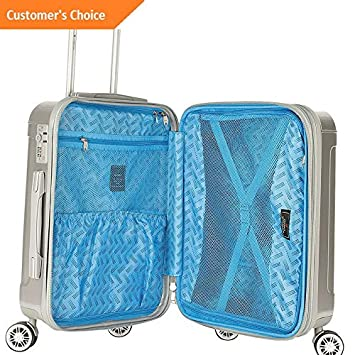 Amazon.com | Sandover Gabbiano Genova 3 Piece Expandable Hardside Spinner gage Set NEW | Model LGGG - 1510 | | Luggage Sets