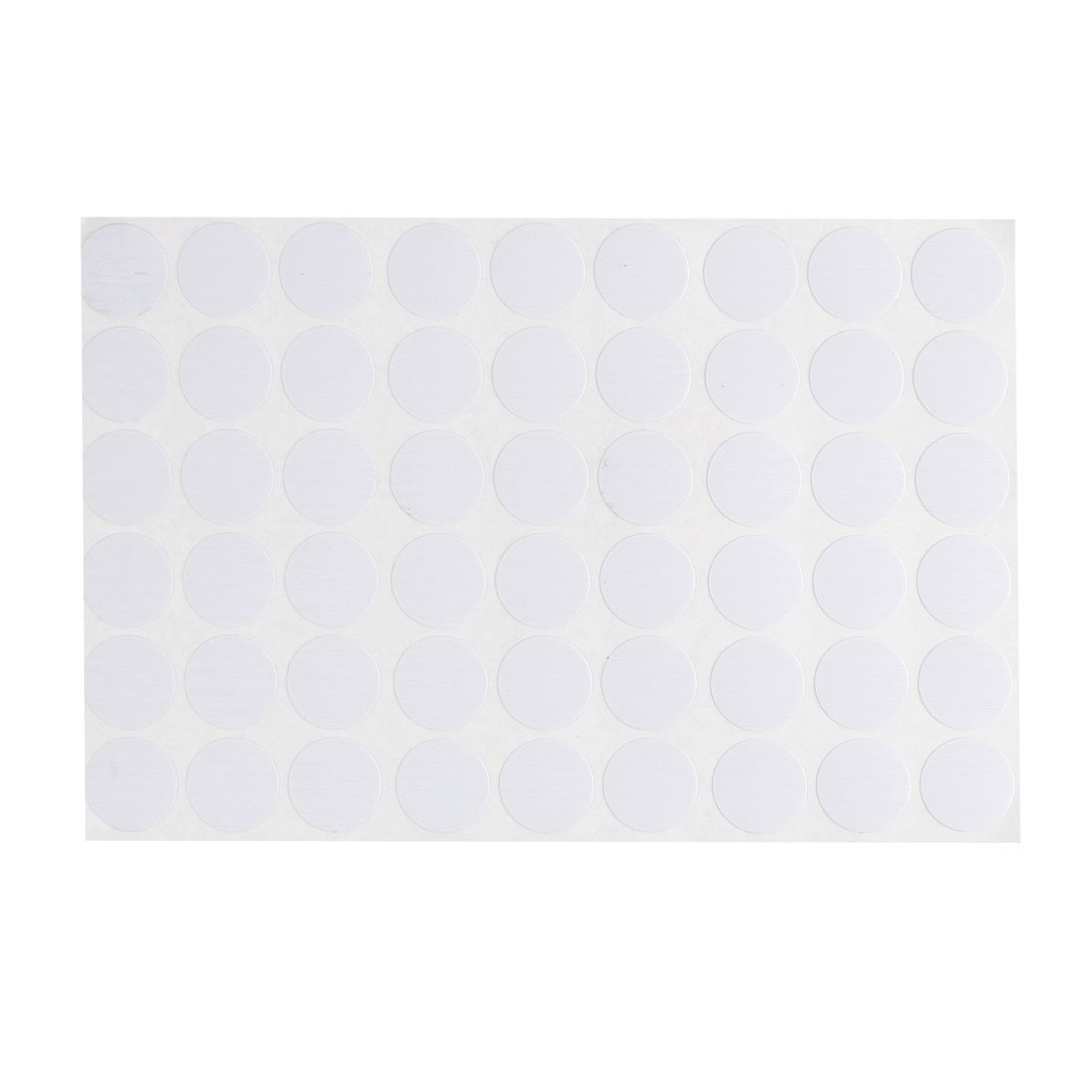 uxcell Desk Table Self-Adhesive 21mm Screw Hole Covers Stickers 54 in 1 White a15112300ux1173