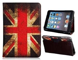 TR Vintage Reino Unido Bandera de la caja de cuero de imitación Bi-Fold con soporte para iPad mini