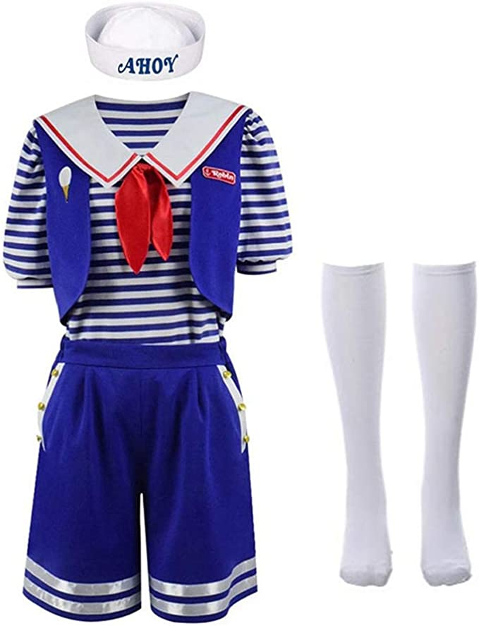 Disfraz de Stranger Things Robin Scoops Uniforme de Ahoy Traje ...