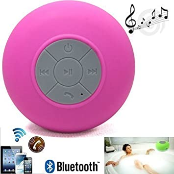 Sudroid Waterproof Wireless Mini Shower Speaker with Built-in Mic Pink Fosler Corporation 4326553876