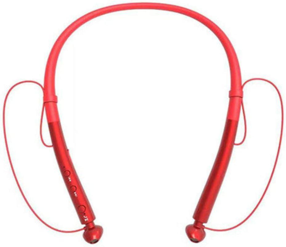 chachacha Sports Neck Hanging Wireless Bluetooth Headset Double Ear 5.0 Stereo Ultra Long Standby Waterproof Heavy Bass HeadphonesChina Red