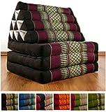 Thaikissen der Marke Livasia, Thaikissen mit 3 Auflagen, asiatisches Dreieckskissen, orientalisches Sitzkissen als Sitzsack für Entspannung und Wellness (weinrot)