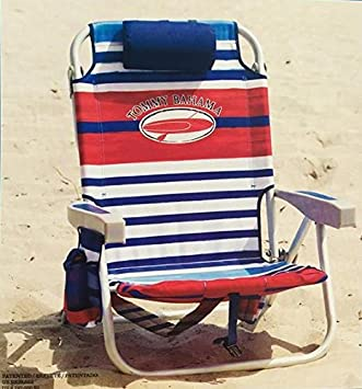 Tommy Bahama 2017 Backpack Cooler Folding Beach Chair (Various Colors) (Red  White U0026